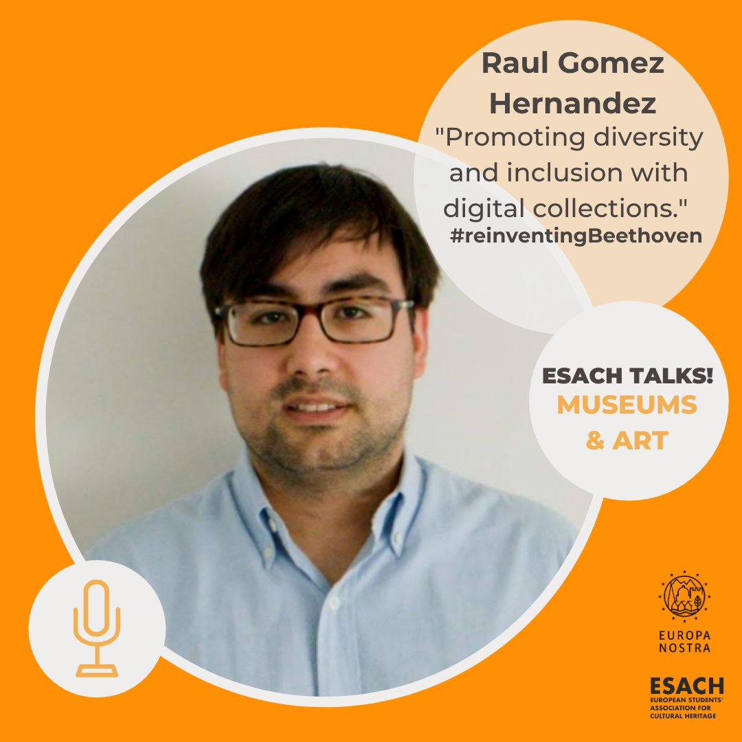Our #esachtalks speakers list is complete!   @raulgomhern is a master's student of #CulturalHeritage Management at @unicomplutense, doing his internship with the Collections Engagement team at @Europeanaeu.  He is interested in new technologies for engagement and education 💻📚 https://t.co/tLAqb2l9UF