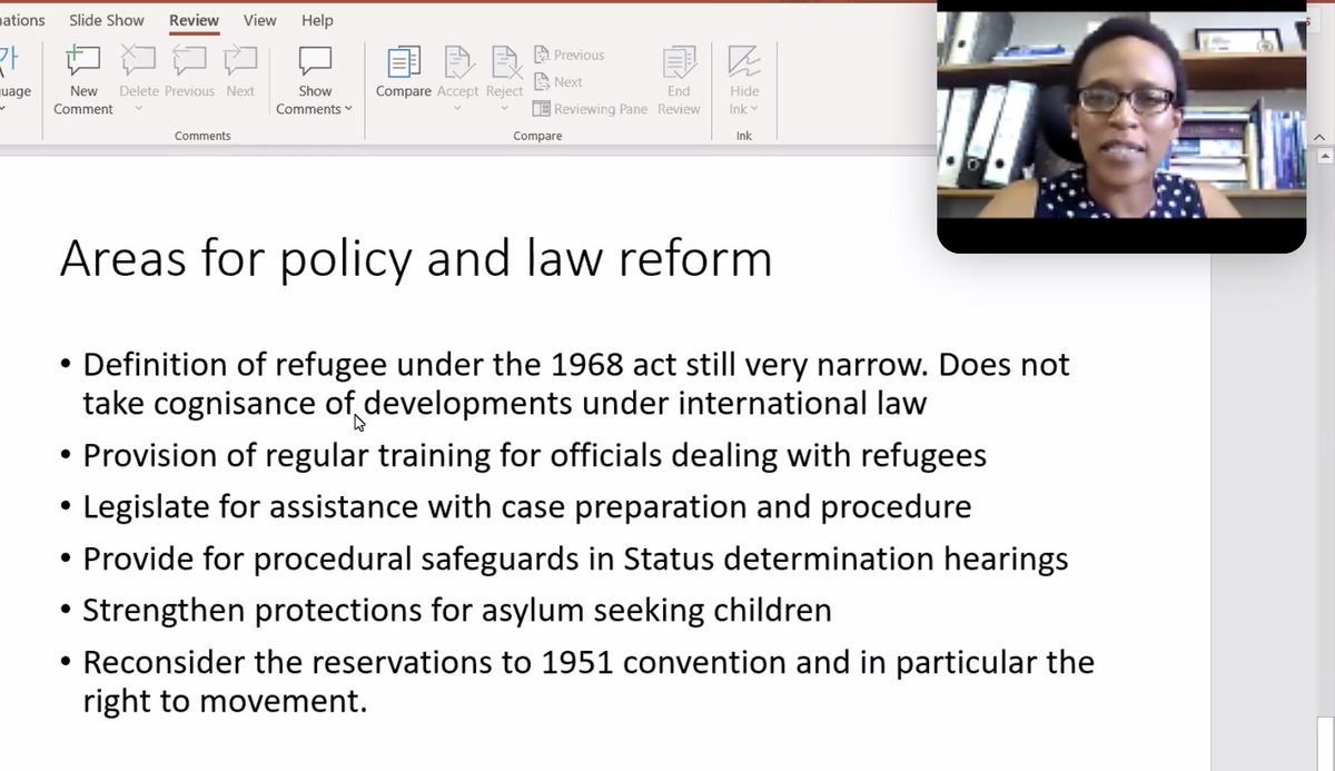@CHR_HumanRights @UBBotswana #WithRefugees #AfricanMigrantsMatter #UNHCR70  #ElizabethMachariaMokobi notes that  significant challenges remain the #integration & protection of #refugee #children & training of officials dealing with #refugees & #asylumseekers.  #socent #impinv #edtech #digitalskills #SDG4