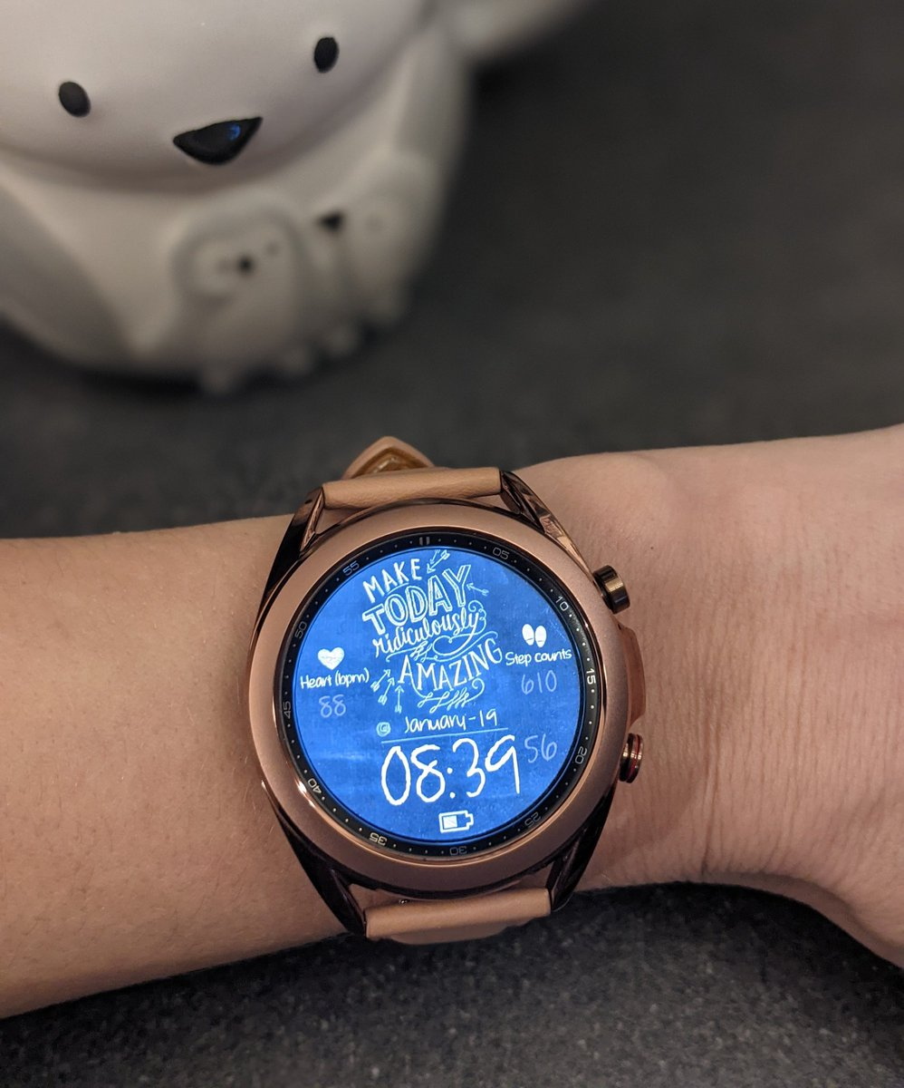 I am loving my #galaxywatch3.. My #sleepscore is absolutely rubbish tho.. 😴 #samsung.. #samsunggalaxy.. #smartwatch.. #watchface..