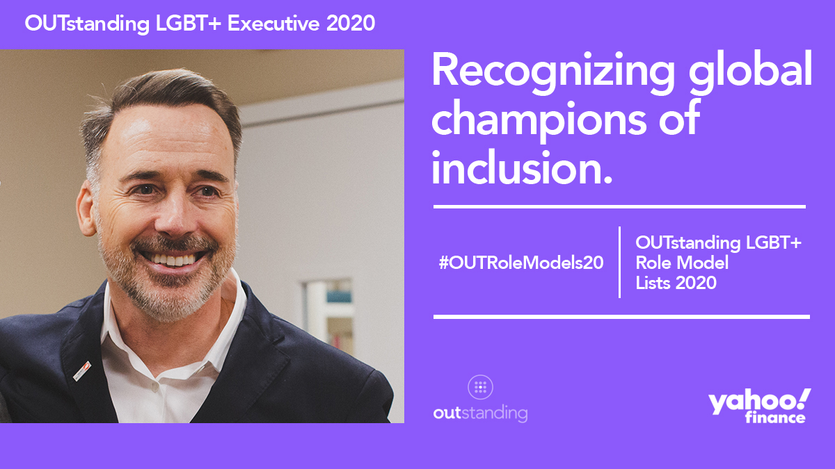 Congratulations to our Chairman, David Furnish, who has been included on the 2020 @OUTstandingiB #LGBT+ Role Model list!  David has been instrumental in shaping @EJAF to ensure inclusivity and equality is centred in everything we do🧡   #OUTRoleModels20