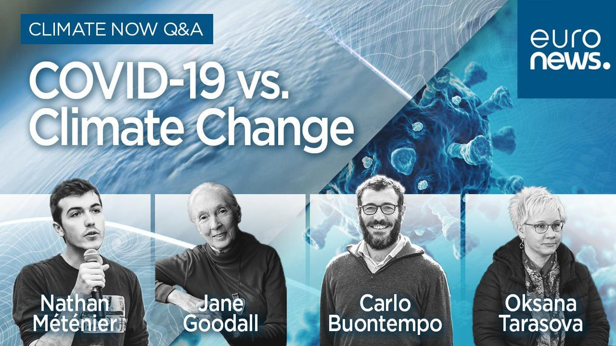 Did the coronavirus pandemic alter the course of #climatechange? @JaneGoodallInst, @carlo_tuitter, @Nathan_Metenier and Oksana Tarasova will answer this question on Thursday, January 21 at 18.00 CET. Leave your questions here 👇 bit.ly/3qDMFhH @WMO @CopernicusECMWF