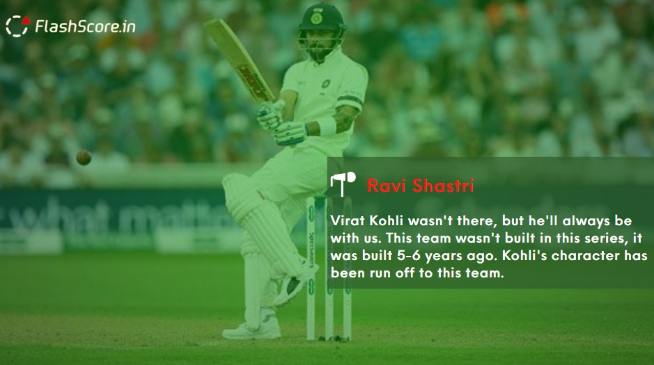King Kohli's character has been run off to this team 🔥  Agree with Ravi Shastri?  #AUSvsIND #AUSvINDtest #AUSvIND #Australia #India #Kohli