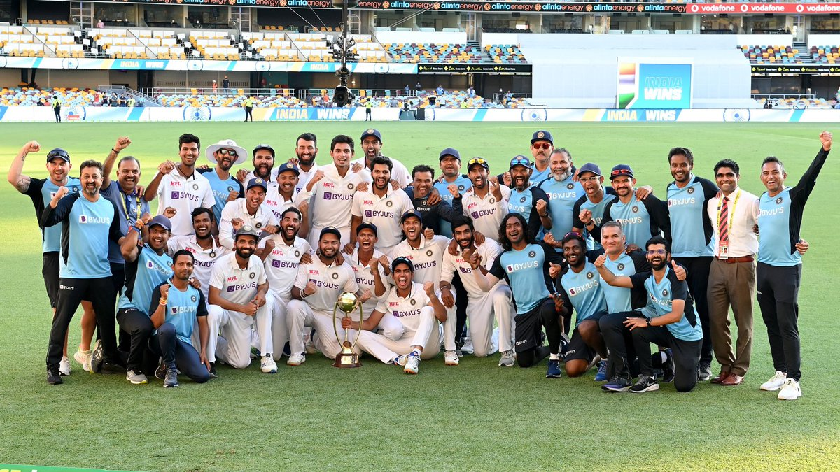 INDIAAAAAA....INDIA.....INDIAAAA🇮🇳.WHAT A MATCH..WHAT A SERIES..🇮🇳 incredible win by India, proudly moment for us. Fat gai Australia ki🐦. #BorderGavaskarTrophy #AUSvINDtest #BCCI