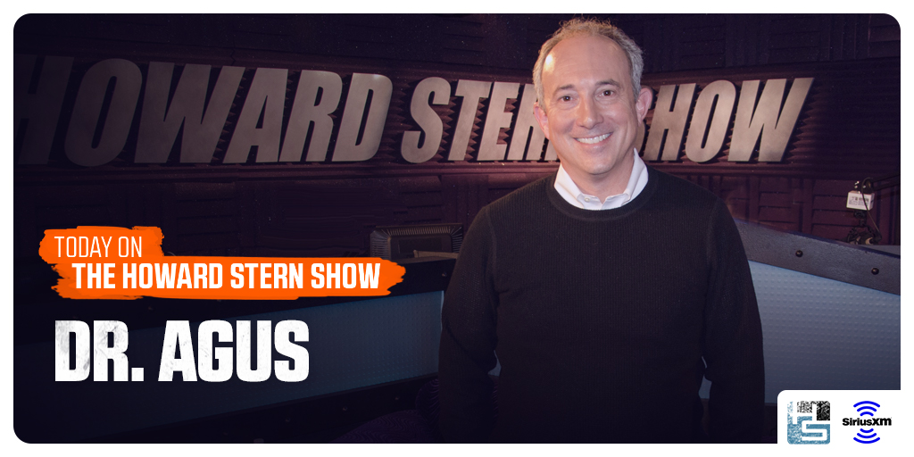TODAY: Dr. @DavidAgus returns to the #SternShow to answer all of @HowardStern's latest medical questions. Tune in on @SiriusXM! #Howard100  🔊