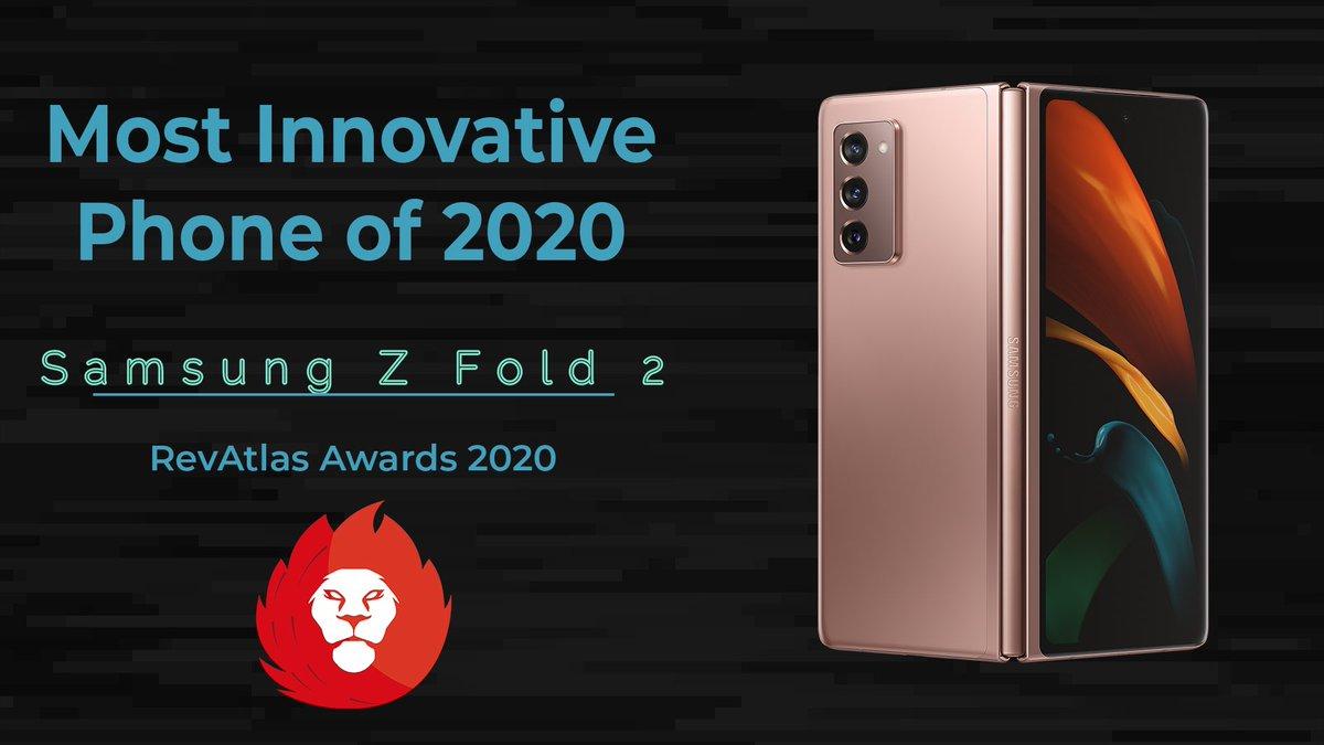 Most Innovative Phone of 2020 - Samsung Galaxy Z Fold 2  Buy the Z Fold 2 Here :   #samsungzfold2 #galaxyzfold2 #revatlas #revatlasawards2020 @SamsungIndia