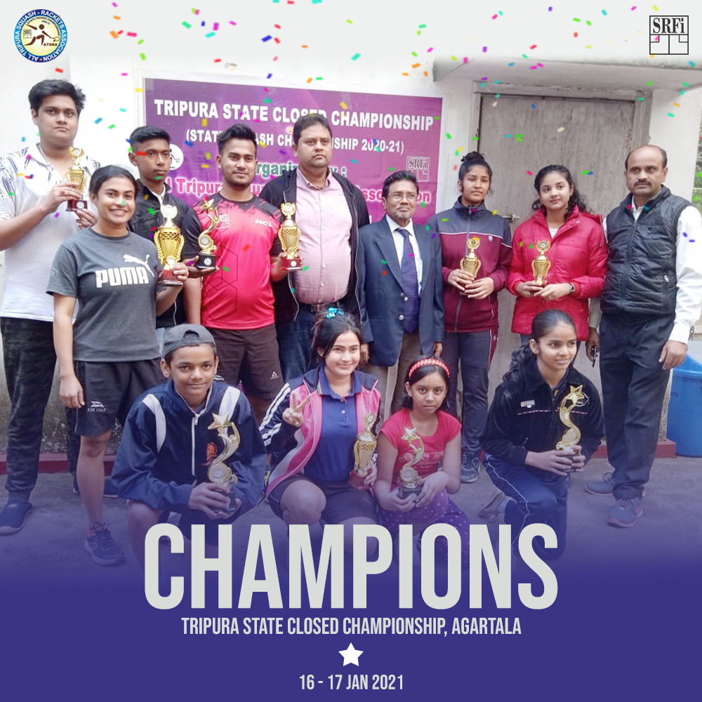 Congratulations to all the winners of Tripura State Closed Championship 2021, Agartala. . . . #StateClosed #1star #assam #squash #racketsports #sports #indiasquash #squashforlife #squashlife #Tripura #NewIndiaFitIndia #statechampionship