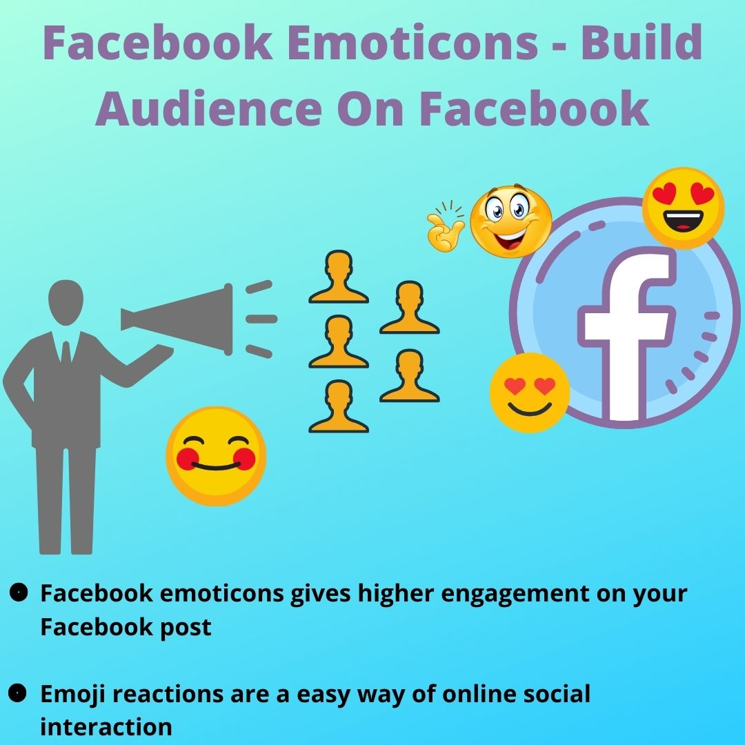 Facebook Emoticons - Build Audience  On Facebook #emoticons #socialmediamarketing #digitalmarketing #Facebookpost #facebooktips #facebookbusiness #socialmedia #socialmediatips #WaleGoodVibes #ONEUS_DEVIL_NoDiggity #tuesdaymotivations #honktwtselfieday