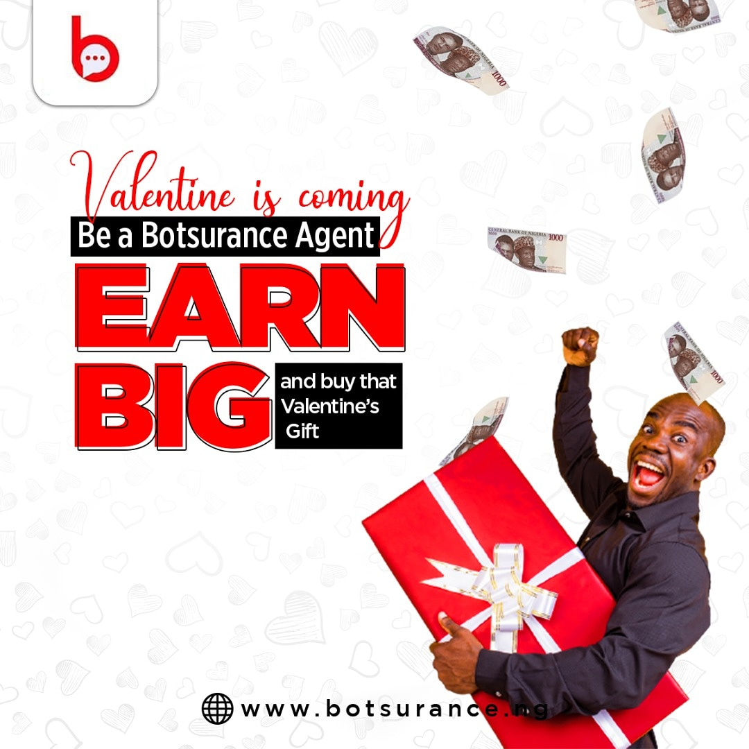 Valentine is coming 🎶 🎶 🎶  Need extra cash to get that Val gift for your spouse?  Use the link in our bio to sign up and start earning big!  RT for someone  #botsurance #tuesdayvibe #valentinesdaygift #tuesdaymotivation
