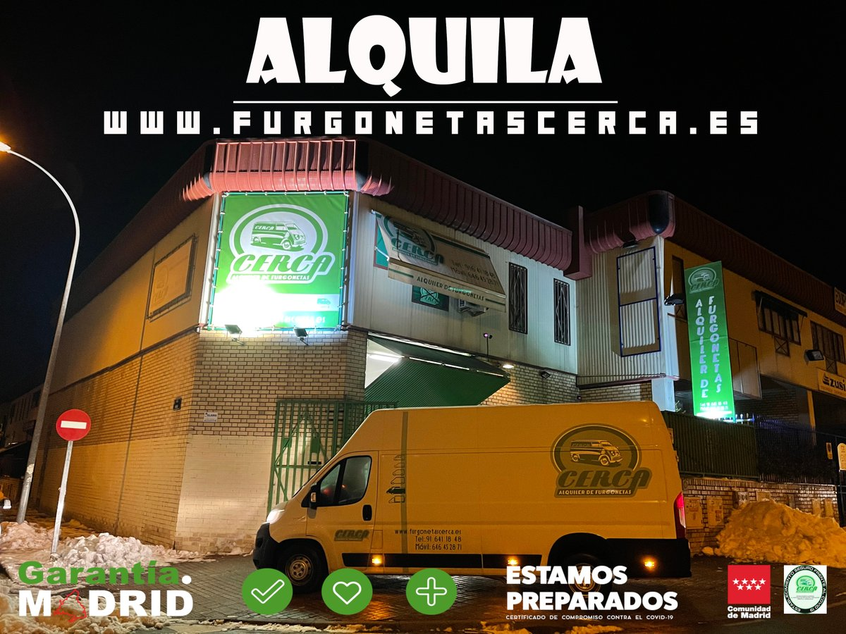 No esperes al último momento y reserva tu furgoneta de alquiler |   #GarantíaMadrid #Cerca #FelizMartes #Alcorcón