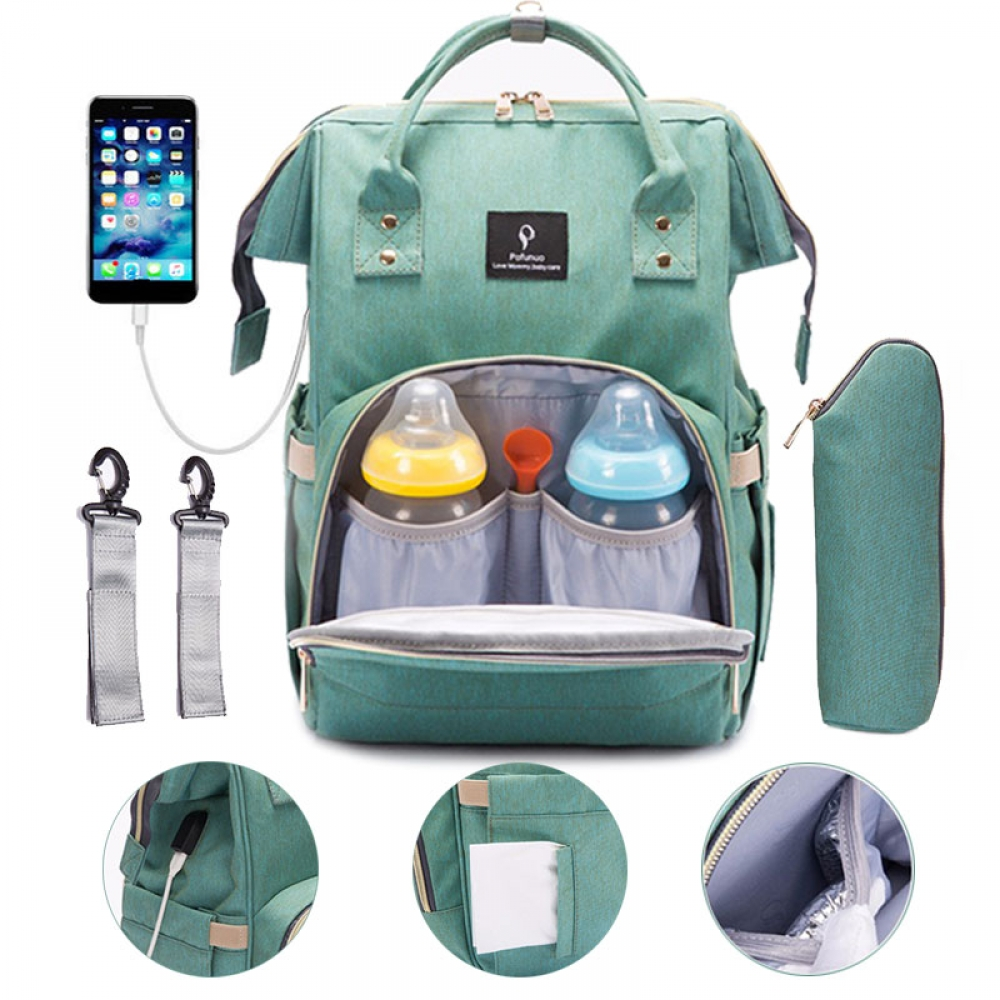 Diaper Bag with USB Interface #cool #pink