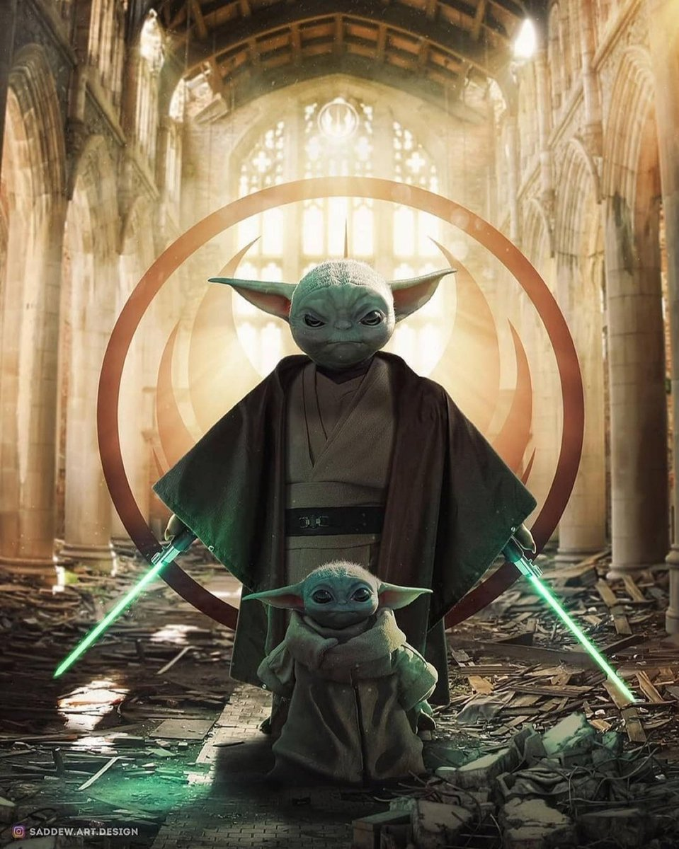 Look at this stunning fan art from  on Instagram.  This is how we all want our little guy to end up.  #starwars #TheMandalorian #Grogu #BabyYoda