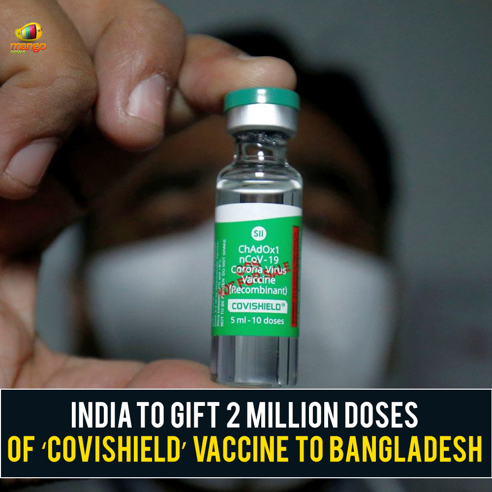 India to provide 2 million doses of the 'Covishield' vaccine to Bangladesh as a gift on January 20. The Covishield vaccine is locally manufactured by the Serum Institute of India.  #Covishield #Bangladesh #SerumInstitute #SII #BangladeshHealthMinistry #CoronaVirus #MangoNews https://t.co/S1ozKtd2lY