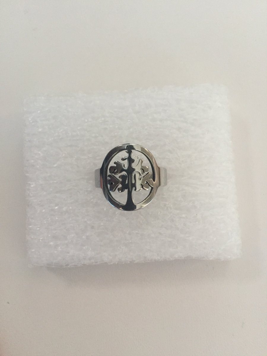 Life tree Stainless Steel Ring - size 8.5    #ring #stainlesssteel #silver #life #tree #band #charm #wedding #jw #new #jewelry #fashion #jewelryforValentinesDay #fashionjewelry #grailed #paypal #freeshipping #shopsmal #access #boho