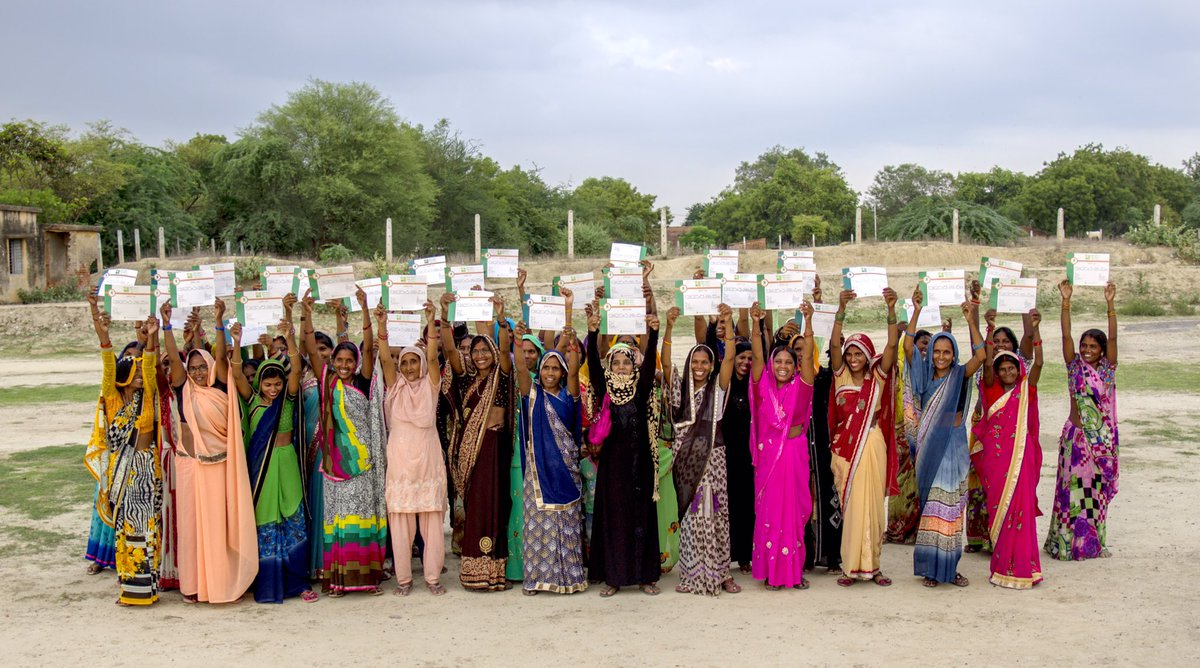 Neo Literates showing their literacy certificates. A proud moment for all of us!     @IKEAFoundation @IKEAUK   #TaraAkshar+ #AdultLiteracy #StepTowardsChange #womenempowerment