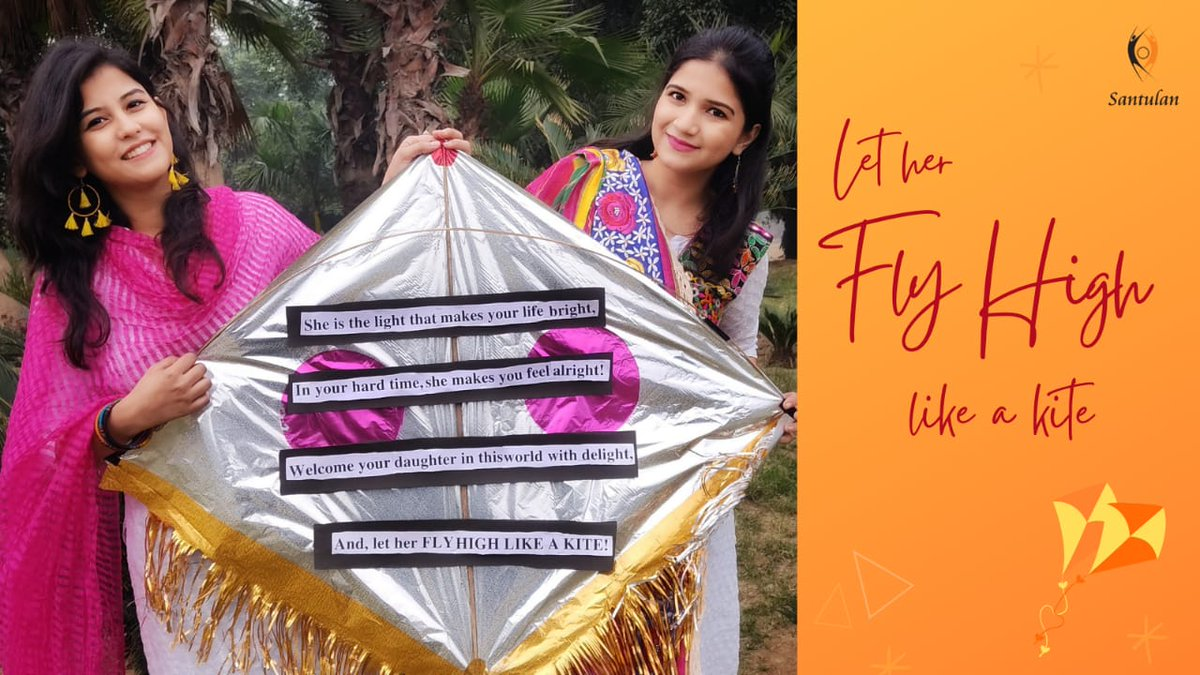 CURTAIN RAISER OF VERY 1ST ACTIVITY OF KANYA BACHAO CAMPAIGN 2021   What a beautiful kite with a beautiful message! Kudos to Vats sisters from Meerut, UP! DM to participate.  #SaveGirlChild #DaughtersAreBlessings #Uttarayan #FestiveSeason