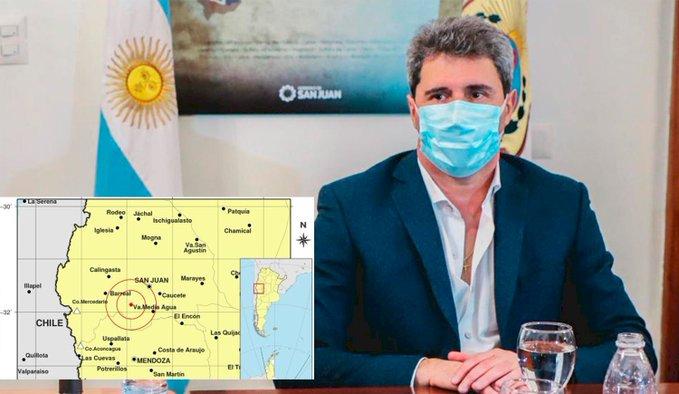 🚨🌎😥 #Terremoto   #Argentina   #Sismo   #SanJuan  El gobernador de San Juan pide