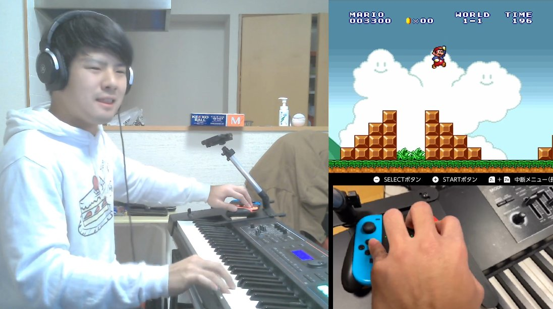 マリオを演奏しながらプレイしてみた【ゆゆうた】