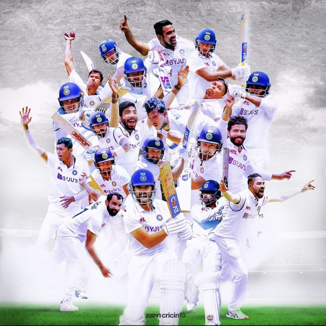 Great team performance #TeamIndia salute to you what a series win mesmerised. Never seen a performance like that before🙏🏻🙏🏻♥️♥️♥️🏏🏏#testcricket #JaiHind