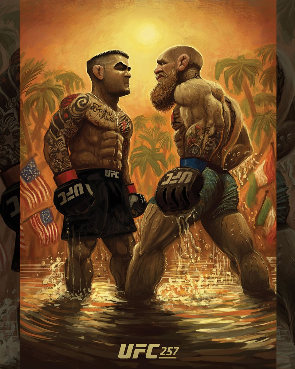 There can only be one king of Fight Island 🔥  #UFC257 #InAbuDhabi @VisitAbuDhabi  🎨: @dosbrak https://t.co/ODteber2Pg