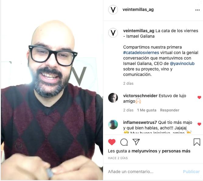 El pasado #viernes realizamos nuestra primera #CatadeLosViernes en formato Online, con la presencia de Ismael Galiana de @YaVinoClub que nos habló de su proyecto, el futuro del vino y su comunicación. Aquí tenéis el enlace para poder verlo: