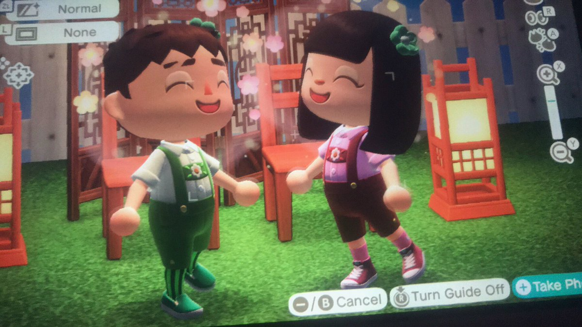 This is my lasa and me  #acnh #AnimalCrossingNewHorizon #AnimalCrossingDesigns #animalcrossing #Quickshot #NintendoSwitch #Happy #green #pink #AnimalCrossing #SnapShot