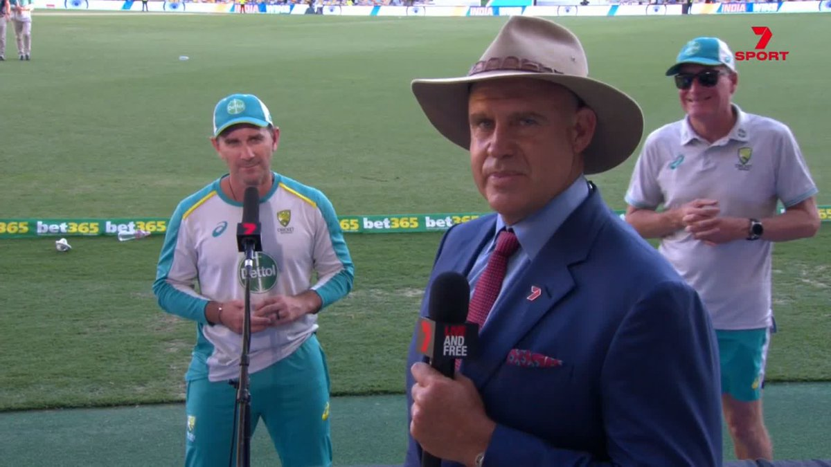 Mathew Hayden : What are the learnings from Gabba ?                  Justin Langer : - 'Never Ever Ever Underestimate the Indians! ' This paisa vasool moment comes at  ( 1:55) . Check it out 👇