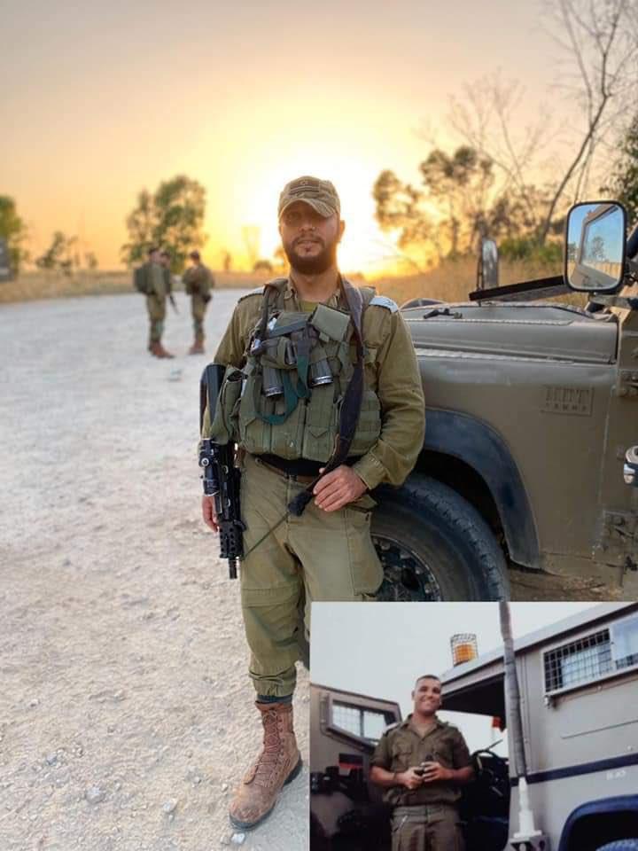 """أفيخاي يغرد : """"اليوم أنا جندي في جيش الدفاع وفخور بأن أكمل مسيرة شقيقي وأحقق ما لم يستطع تحقيقه بعد أن علمني أهمية…"""