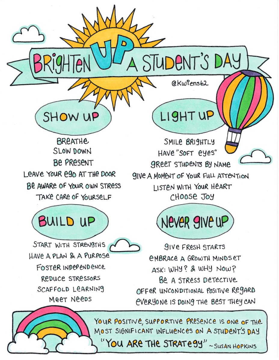 When supporting young people don't forget that YOU are the strategy! 🌈 Your positive, supportive presence is one of the most significant influences on a student's day. @susanhopkins5 reminding us how to support young people in any context. #WatchUsGrow  #wellbeing #attunement