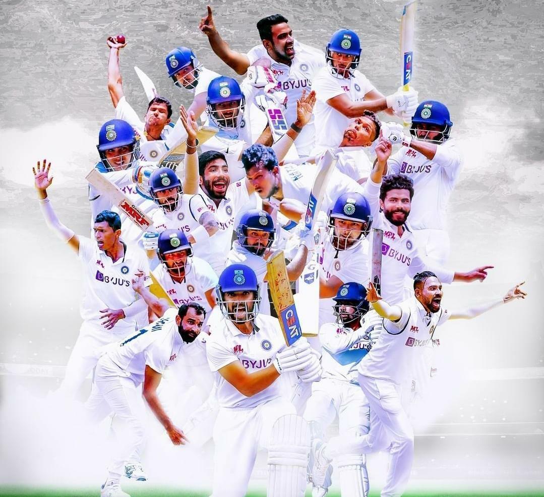 गुलाल आपलाच 🎉🎊🎉🎊 #GabbaTest वर भारताचा ताबा 🎉🎊✌️✌️ 🇮🇳🇮🇳🇮🇳🇮🇳🇮🇳 Great Win #TeamIndia ✌️✌️ #IndiavsAustralia