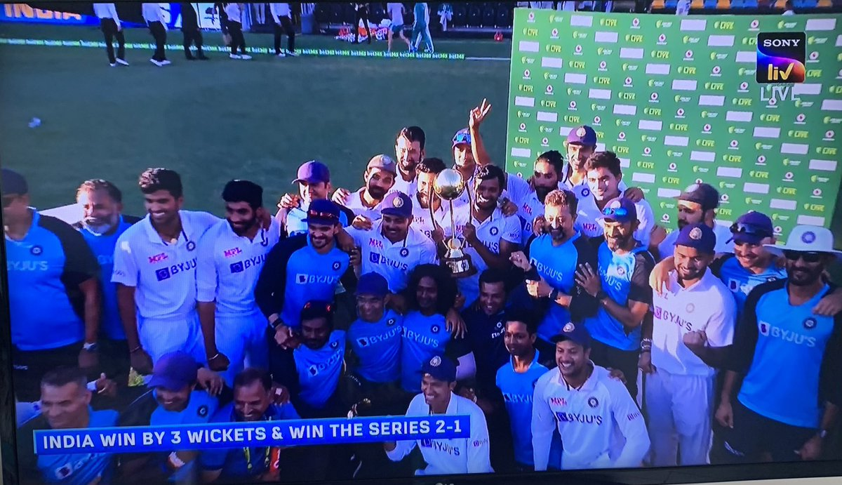 When the chips are down You are bruised and battered Backs against the wall Got no more to give  Every goal seems unrealistic . . Dust yourself off Start all over again Provide a counter punch  Believe Conquer Thank you Team India! @BCCI   #AUSvsIND #GabbaTest #TestMatch