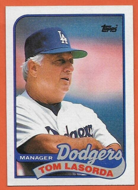 "Sorry to induce the #MandelaEffect on you, but there was a time when #Dodgers great Tommy Lasorda was known professionally as ""Tom Lasorda"" (See 1989 @Topps baseball card pictured). Now he's known by nothing else but ""Tommy."" When did the shift come about? #RIPTommyLasorda"