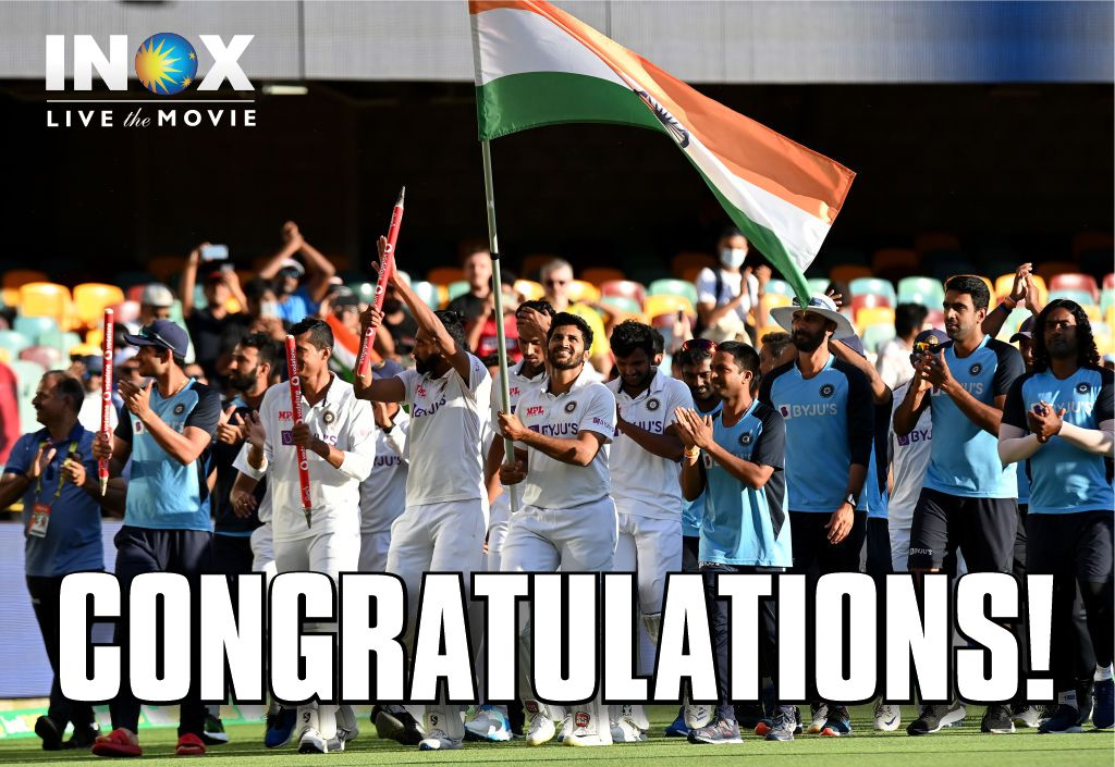 To The Team Which Refused To Stop Fighting!  To The Team Which Focused On The Goal! To The Team Which Believed That Impossible Is Possible! #TeamIndia #IndVsAus #AusVsInd  PC: @BCCI