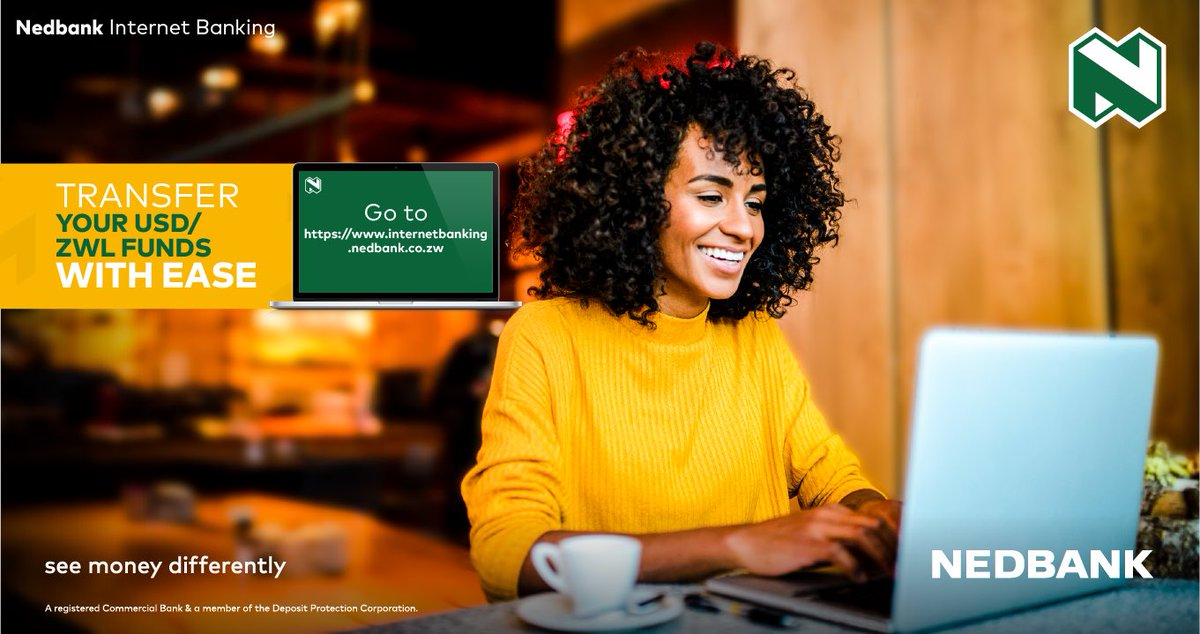 Transfer your funds with ease from the comfort of your home. Email us on contactcenter@nedbank.co.zw for any assistance you may require. #BankFromHome #StaySafe #MoneyExperts #Nedbank #SeeMoneyDifferently