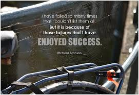"""Richard Branson, """"I have failed so many times that I couldn't list ...""""  #Quote"""