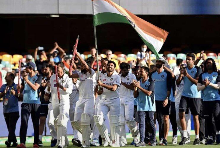Congratulations Team INDIA🔥  #IndiavsAustralia #INDvsAUS #BorderGavaskarTrophy #TeamIndia #RishabPant #MohammedSiraj