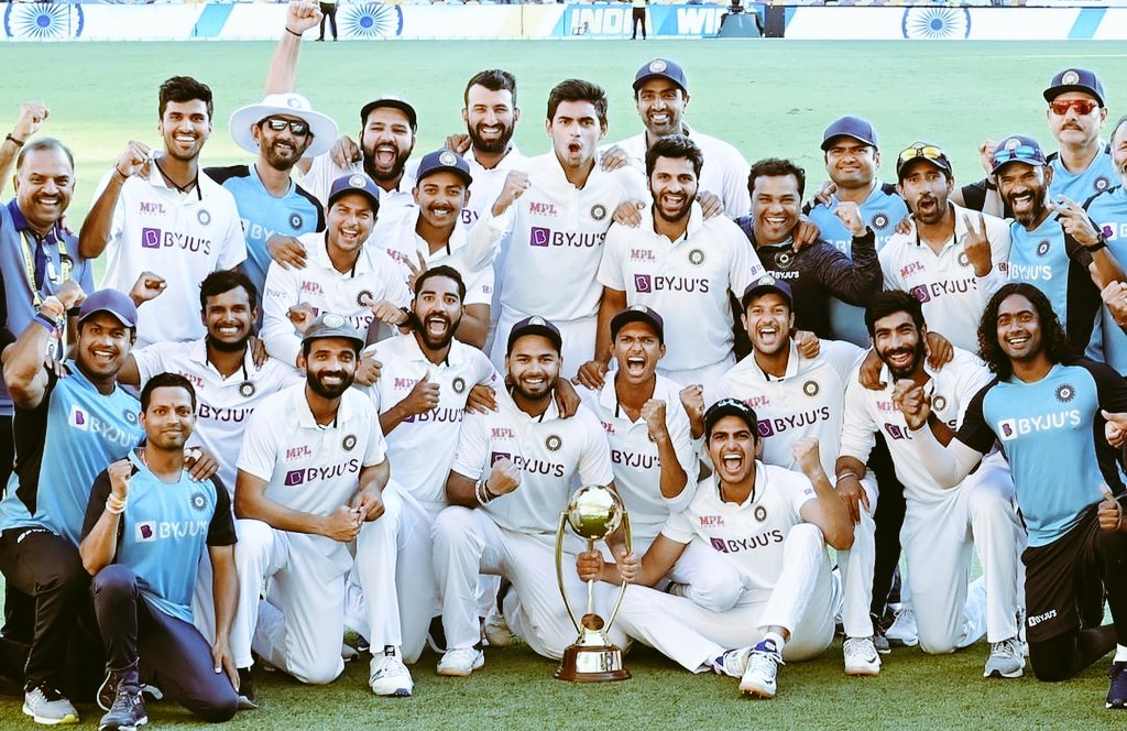An outstanding performance by Indian team breaking an unbeaten record of 32 yr,,with a lot of injury concerns and key players not playing. Amazing performance by the young lads of team India #Blues #TeamIndia #AUSvsIND