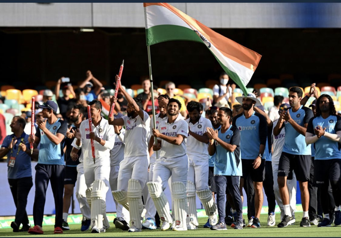 What an extraordinary win!! 🇮🇳 #TeamIndias never say die attitude is truly an inspiration for every sports fan! Take a bow! #INDvsAUS 🙌🏼 🇮🇳 @BCCI