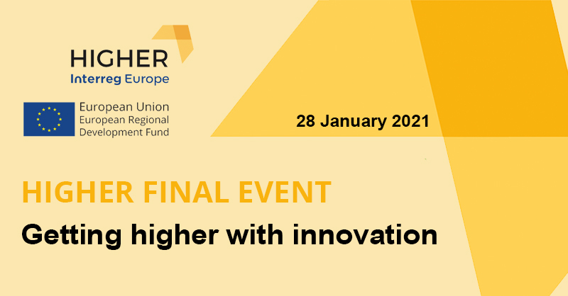 """During more than 4 years, 8 European institutions have been collaborating in the #HIGHER project to define new dynamics of open and collaborative innovation.   On 28 January, join the #HIGHERfinalEvent """"Getting higher with innovation""""  ➡"""