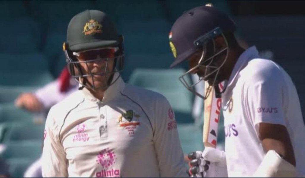 It was at this moment that @tdpaine36 knew he f***ed up!!! #AUSvsIND  #IndiaWins  @ashwinravi99