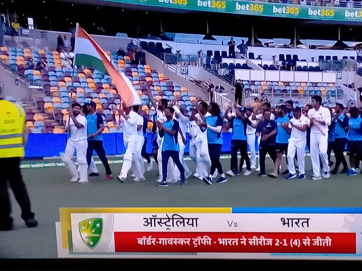 From loosing 1st test with the score of 36/9 to series win 2-1(4), #TeamIndia fought all the challenges with brave heart and courage....This is New India. Kudos to the youngsters for the massive win & What a knock by #RishabhPant. Congratulations India🇮🇳