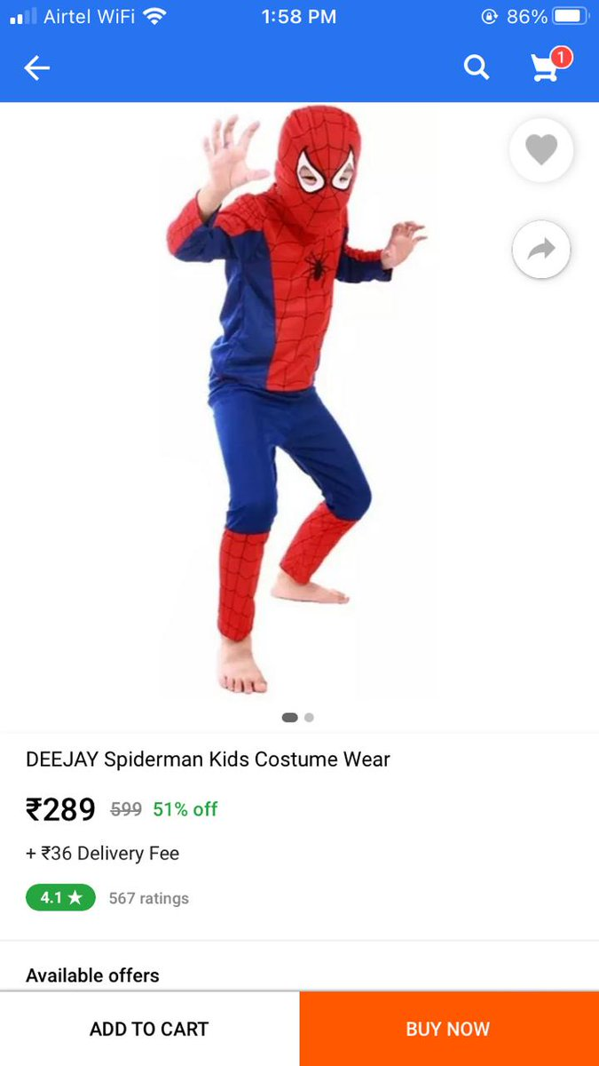 Our latest bestseller! Thank you Team India 😉 #INDVSAUS #SpidermanSpiderman