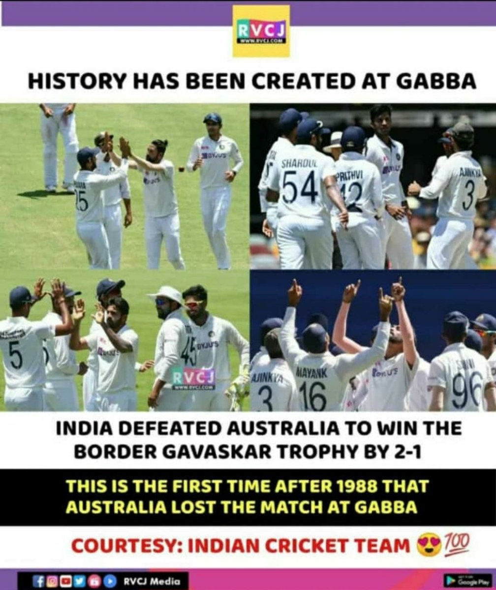 An extraordinary win by Team India.❤️🔥❣️ Congratulations 💐💐💐 #TeamIndia #INDvsAUS #IndianCricketTeam #proudmoment #IndiavsAustralia