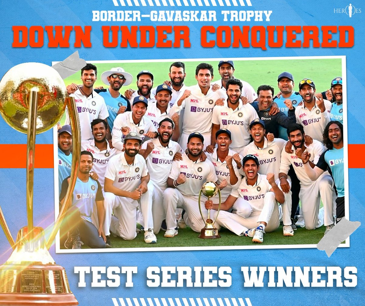 First team to beat 🇦🇺 in Brisbane since 1️⃣9️⃣8️⃣8️⃣ 😍💪 A series we can never forget. Absolutely brilliant. Well done #TeamIndia Jai Hind 🇮🇳👏👏 #Heroes