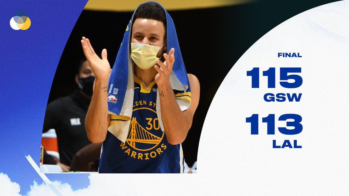 WARRIORS WIN!!!!  Victoria tras remontar 19 puntos en el Staples contra los Lakers!!! #DubNation