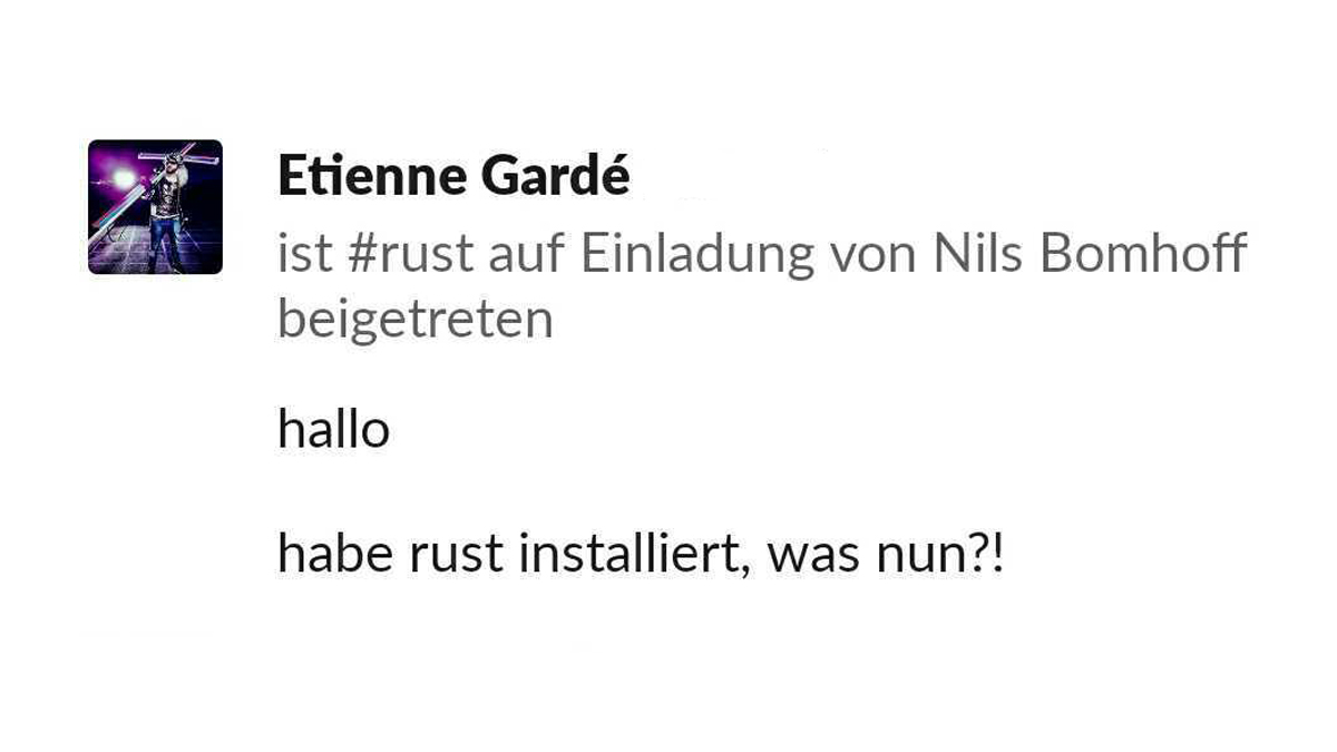 A new player has entered the game. #Rustplatz https://t.co/4ITq1SFgWl