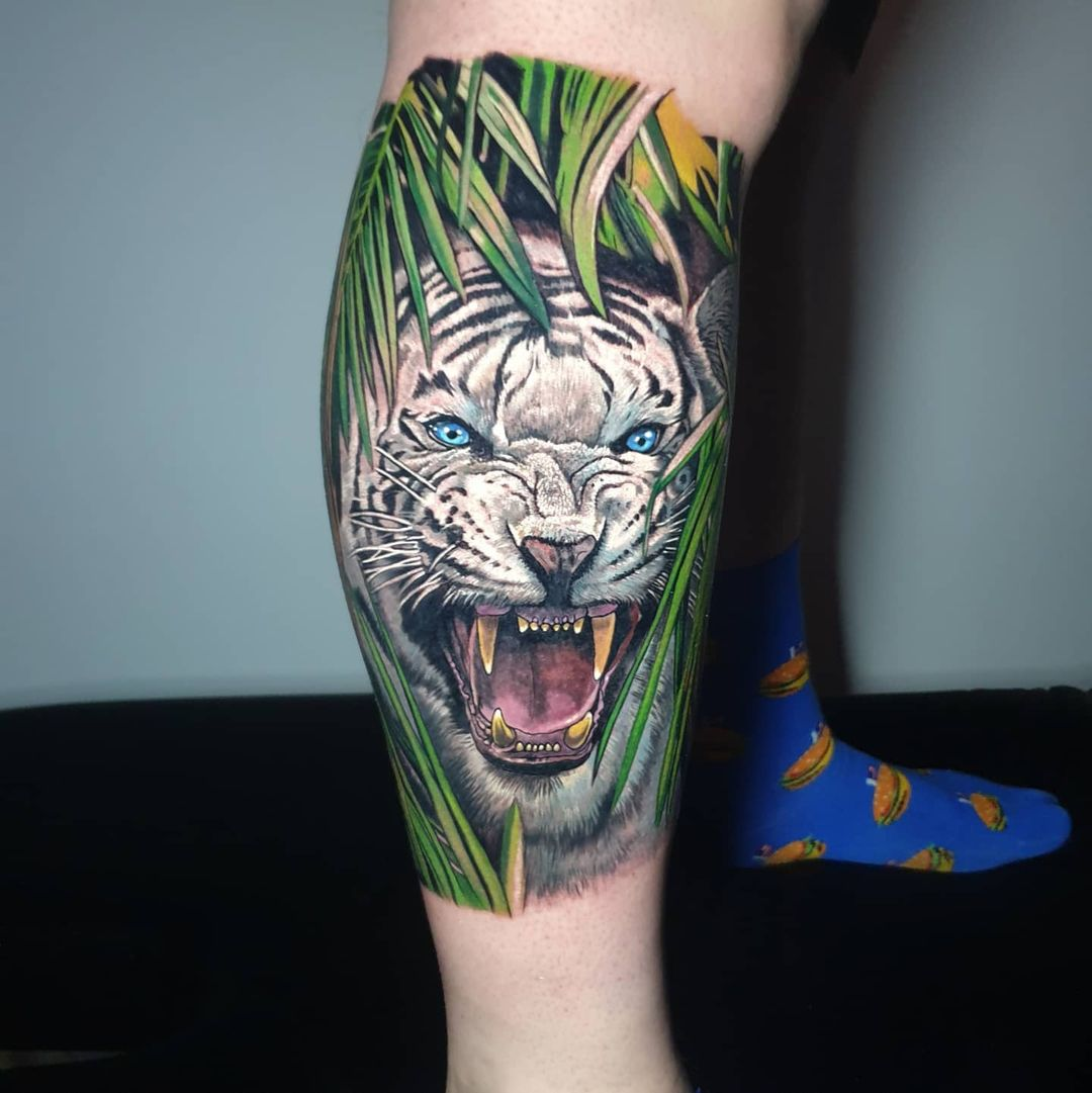 Killer #whitetiger by Jason Baker with #killerinktattoo supplies!  #killerink #tattoo #tattoos #bodyart #ink #tattooartist #tattooink #tattooart