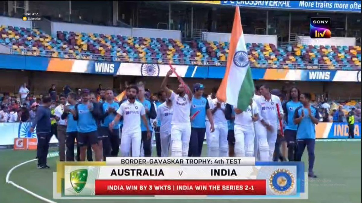 Incredible. What a historic win! Congratulations #TeamIndia for retaining the #BorderGavaskarTrophy & achieving the stellar feat of winning at the Gabba. Great show of character from the boys, so proud! 🇮🇳🙌🏼  #INDvAUS