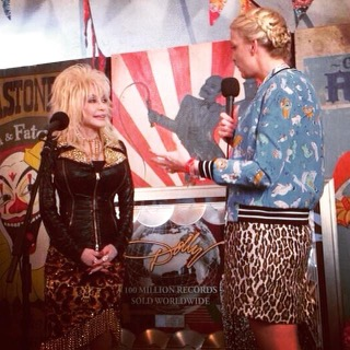 Toasting the Queen of Country on @BBC6Music #6MusicSalutes in a mo. Happy 75th birthday, @DollyParton!  (Pictured during one of the actual best moments of my life, below)