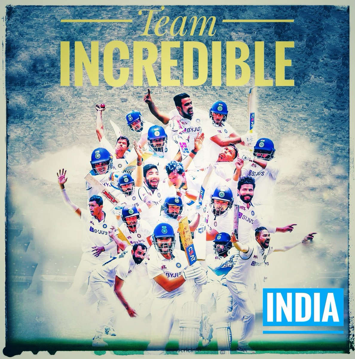 What a brave performance from Team India. An overall team effort. Everyone shined at different circumstances. The confidence given by @ajinkyarahane88 @ImRo45 to the youngsters pushed them to achieve. Great knocks and incredible bowling. @BCCI #IndiavsAustralia #IndianCricketTeam