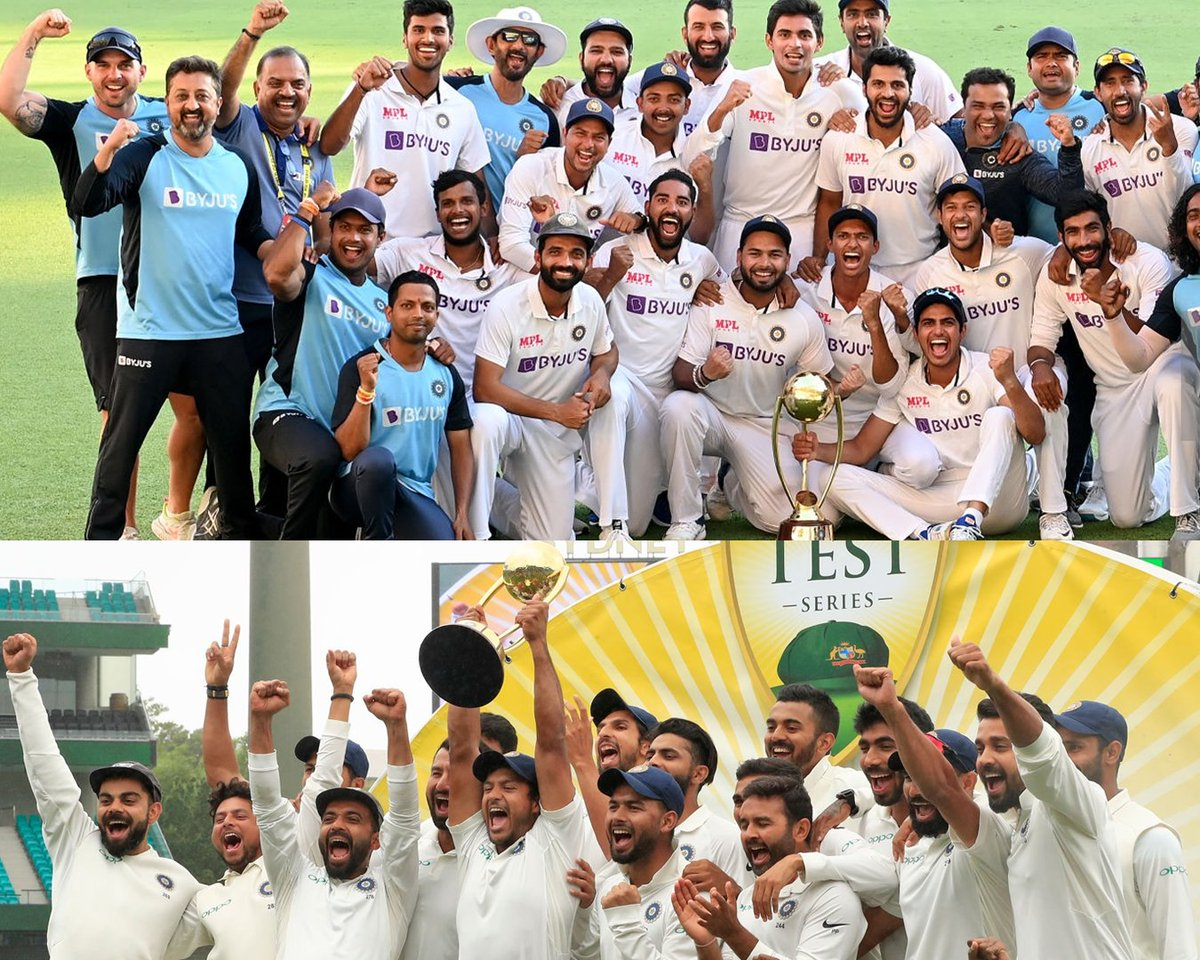 🔹2018-2019 🏆 🔹2020-2021 🏆  If you had to choose ☝🏼 which one would you pick as more special, and why?  #AUSvIND #TestCricket #TeamIndia #BorderGavaskarTrophy